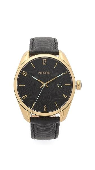 Nixon Часы Bullet на кожаном ремешке