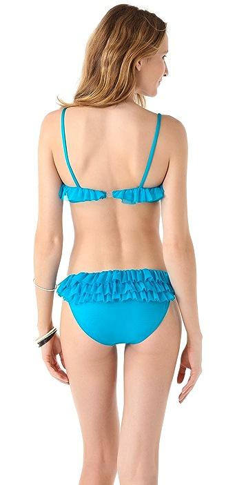 Norma Kamali Ruffle Bikini Top