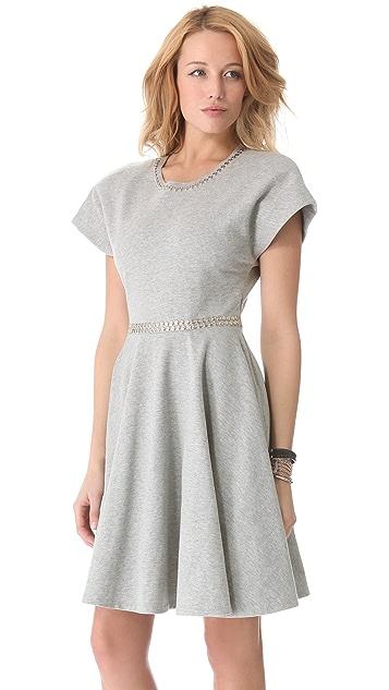 Norma Kamali Short Sleeve Flared Dress