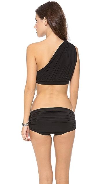 Norma Kamali One Shoulder Bikini Top