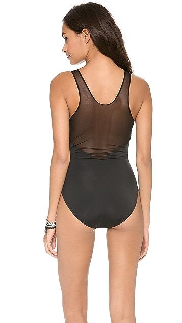 Norma Kamali Racer Tee Deep V Mio Swimsuit
