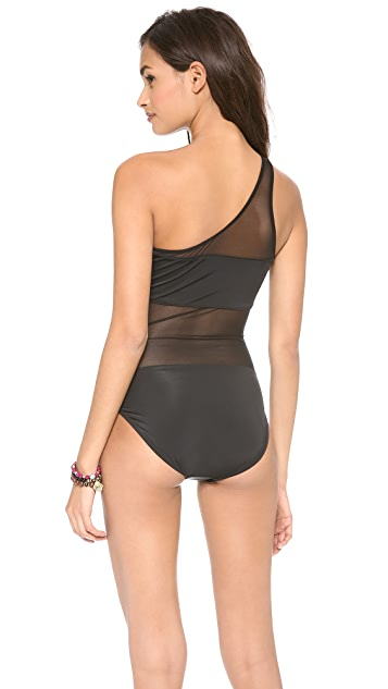 Norma Kamali One Shoulder Mio One Piece Swimsuit