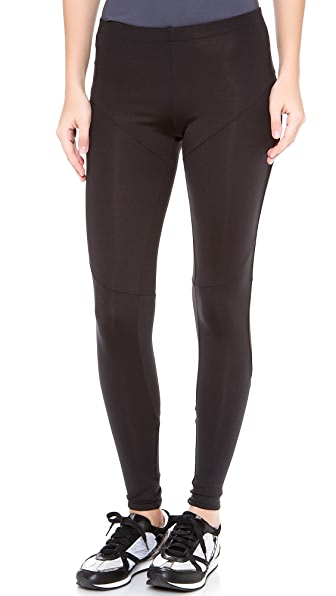 Norma Kamali Interactive Diagonal Leggings with Mesh