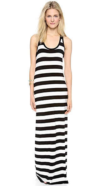 Norma Kamali Kamali Kulture Stripe Dress with Racer Back