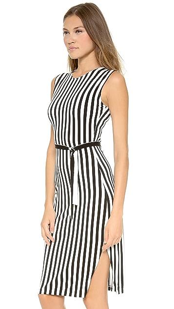 Norma Kamali Kamali Kulture Stripe Shift Dress