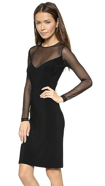 Norma Kamali Kamali Kulture V Insert Combo Dress