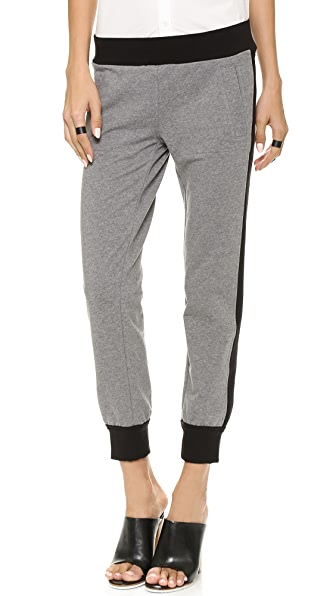Norma Kamali Side Stripe Jogging Pants