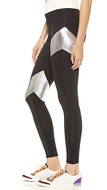 Norma Kamali Spliced Diagonal Leggings