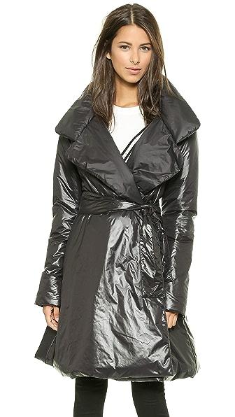 Norma Kamali Classic Reversible Flare Coat