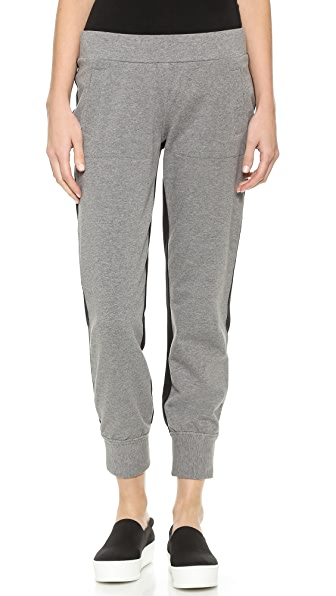Norma Kamali Contrast Back Sweatpants