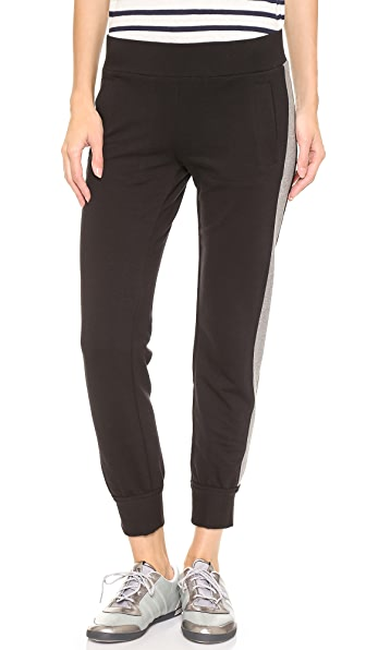 Norma Kamali Side Stripe Jog Pants