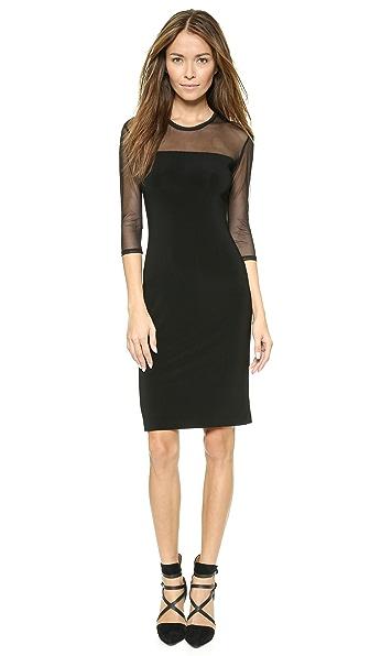 Norma Kamali Core 3/4 Sleeve Dress