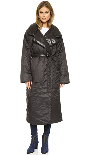 Norma Kamali Classic Long Reversible Coat