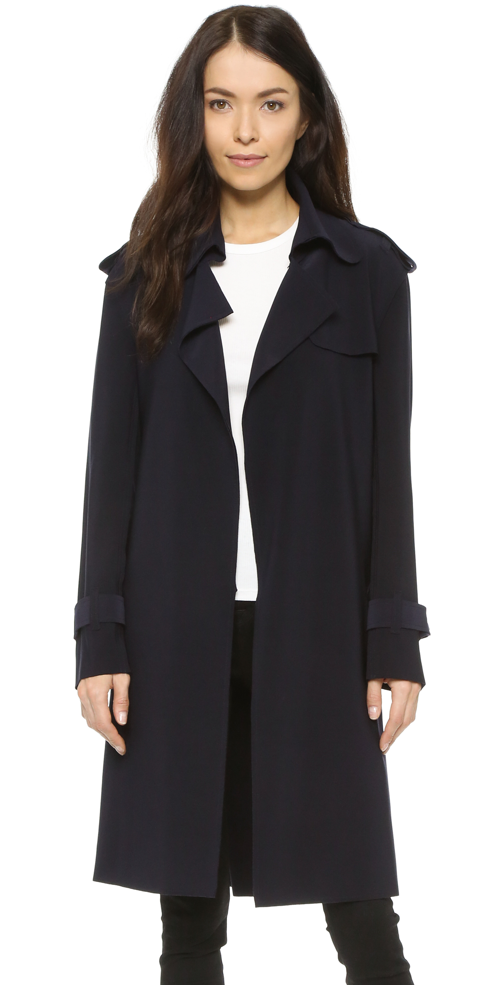 Kamali Kulture Double Breasted Trench Coat Norma Kamali