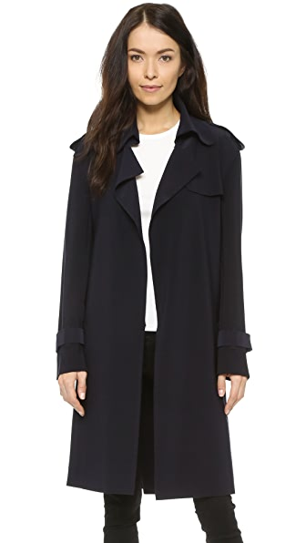 Norma Kamali Kamali Kulture Double Breasted Trench Coat - Midnight