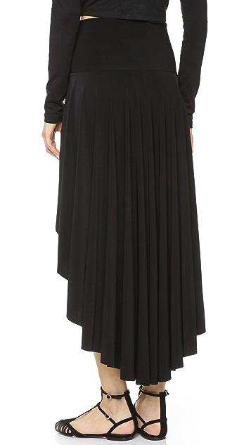 Norma Kamali Kamali Kulture High / Low Skirt