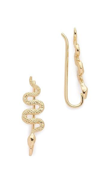 Nora Kogan 14k Gold Xenia Snake Ear Cuffs