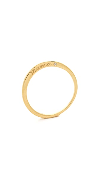 Nora Kogan Mama Ring with Diamond - Gold