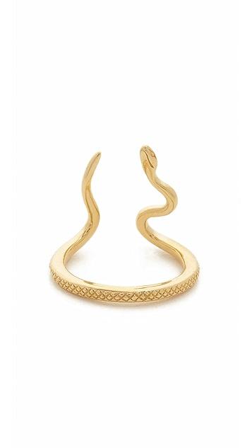 Nora Kogan 14k Gold Alexandra Snake Ring