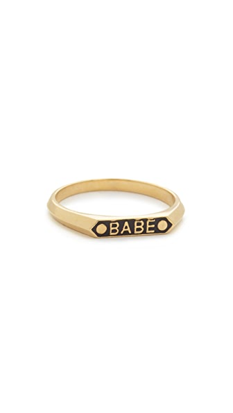 Nora Kogan Babe Signet Ring - Black