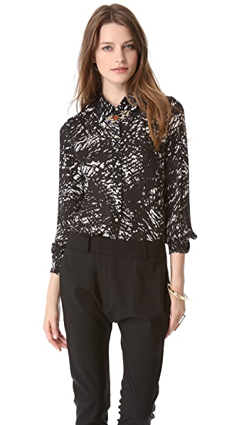 Nili Lotan Button Down Blouse