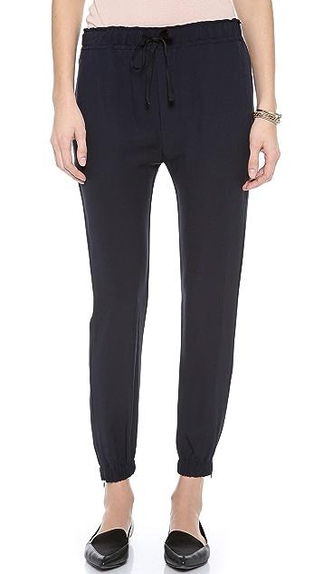 Nili Lotan Silk Sweatpants