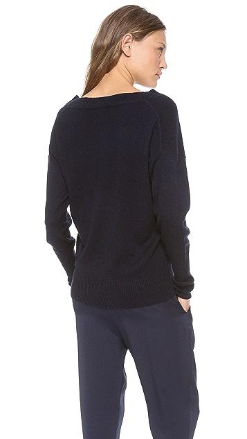 Nili Lotan 18-8 Deep V Cashmere Sweater