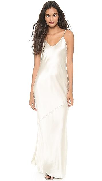 Nili Lotan Low Back Maxi Dress