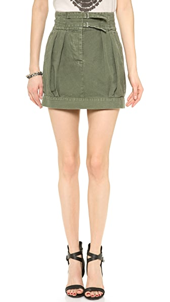Nili Lotan High Waisted Pleated Skirt