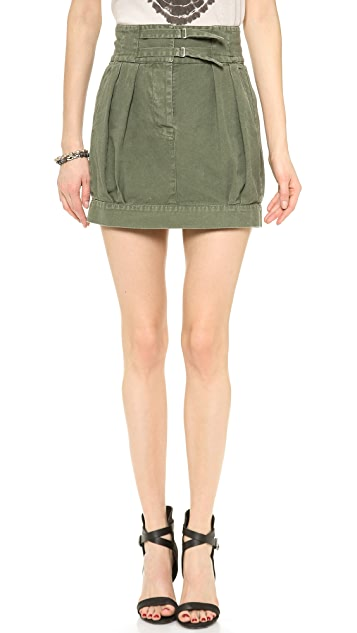 Nili Lotan High Waisted Pleated Skirt