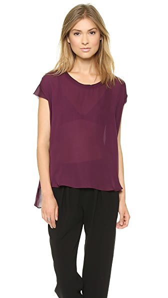 Nili Lotan Draped Georgette Top