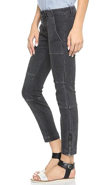 Nili Lotan Cropped Moto Pants