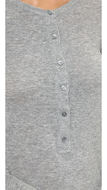 Nili Lotan 18-8 Long Sleeve Henley Sweater