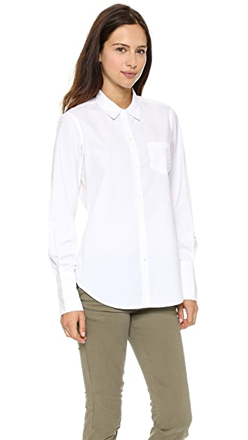 Nili Lotan Poplin Button Down Blouse