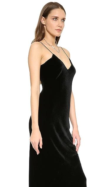 Nili Lotan Velvet Cami Gown