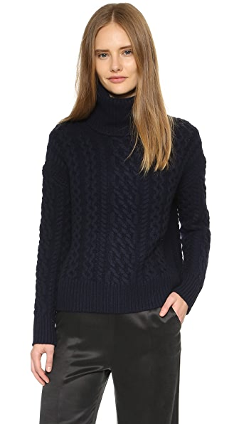 Nili Lotan Aran Cashmere Turtleneck Sweater