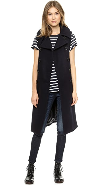 NLST Long Sleeveless Peacoat