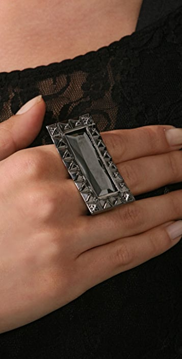 Noir Jewelry Pyramid Double Knuckle Ring