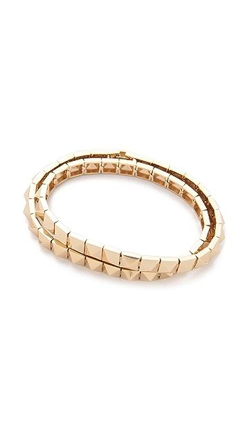 Noir Jewelry Pyramid Bracelet