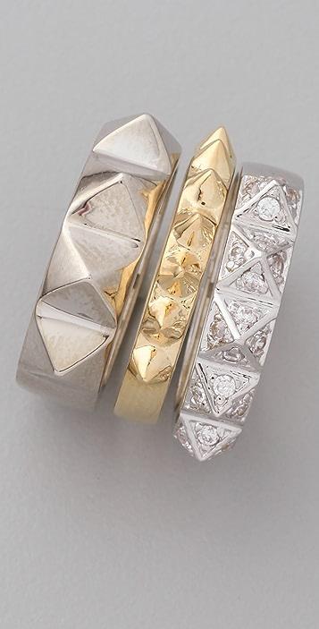 Noir Jewelry Spike Ring Set