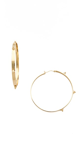 Noir Jewelry Spike Hoop Earrings