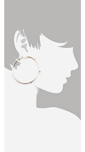Noir Jewelry Spike Hoop Earrings