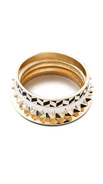 Noir Jewelry Noir for L.A.M.B. Bangle Set