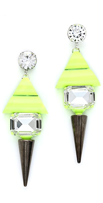 Noir Jewelry Highlight Spike Earrings