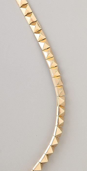 Noir Jewelry Pyramid Stud Necklace