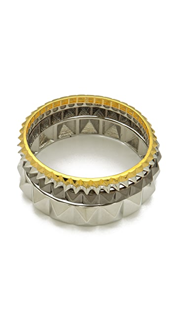 Noir Jewelry Studded Bangle Set