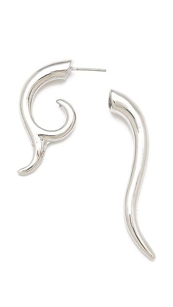 Noir Jewelry Smooth Swirl Earrings