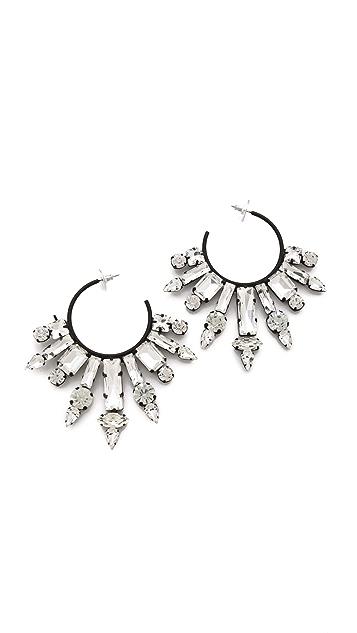 Noir Jewelry Nightfall Hoop Earrings