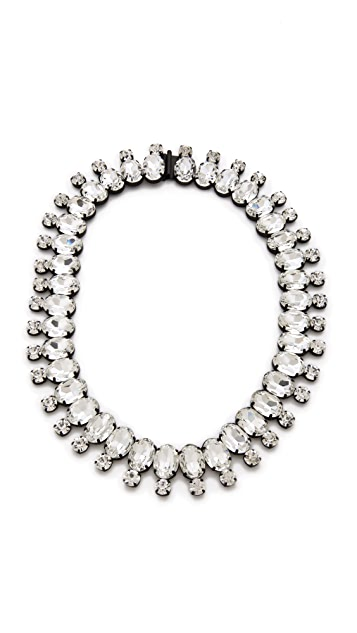 Noir Jewelry Nightfall Crystal Necklace