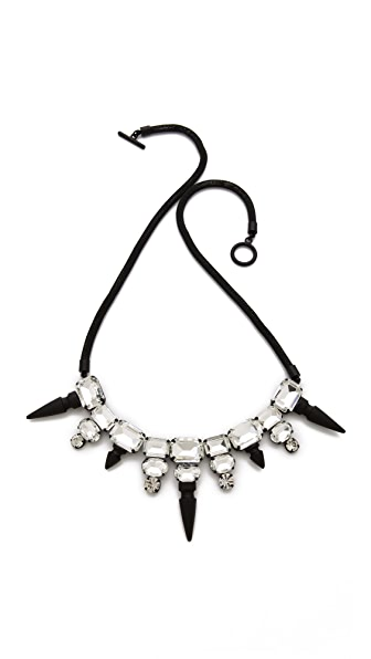 Noir Jewelry Nightfall Crystal Bib Necklace